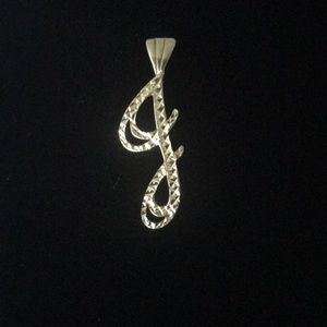 Jewelry - 💕NWOT💕14K YELLOW GOLD FANCY INTIAL 'J' PENDANT